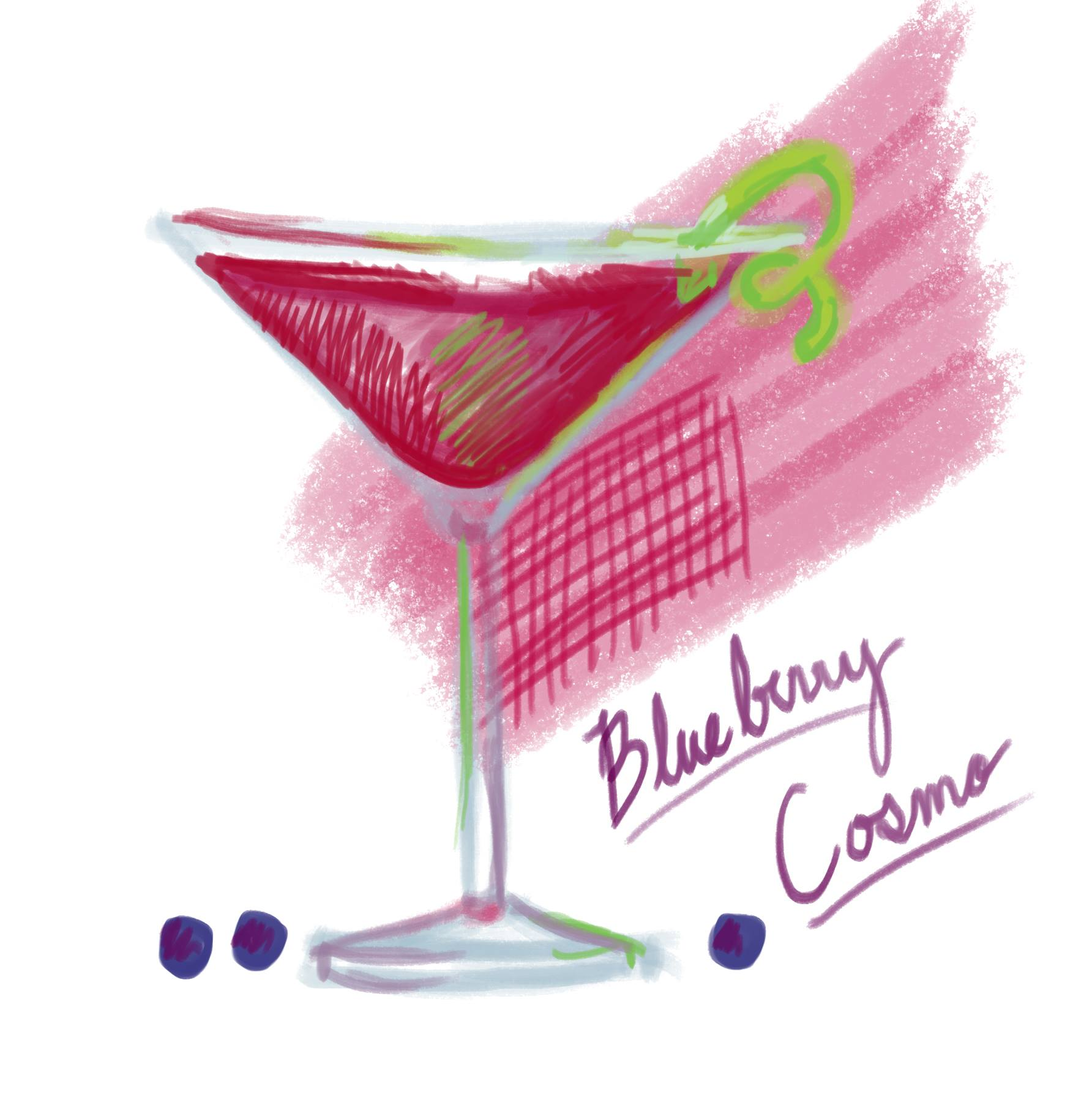 Blueberry Cosmo